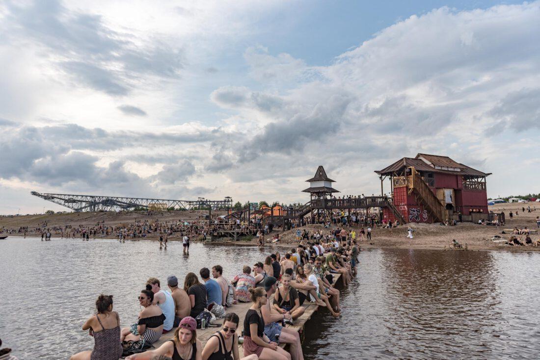 Strandfoor am Tag beim Feel Festival 2019